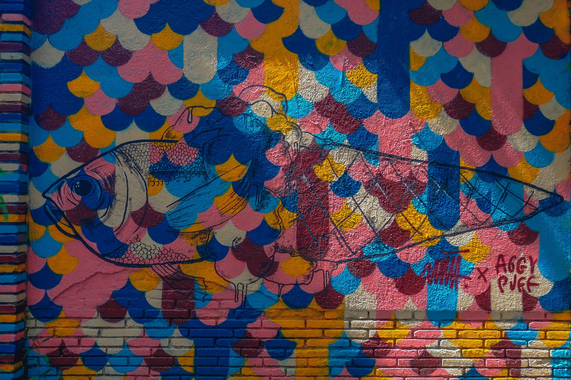 fishcone mural