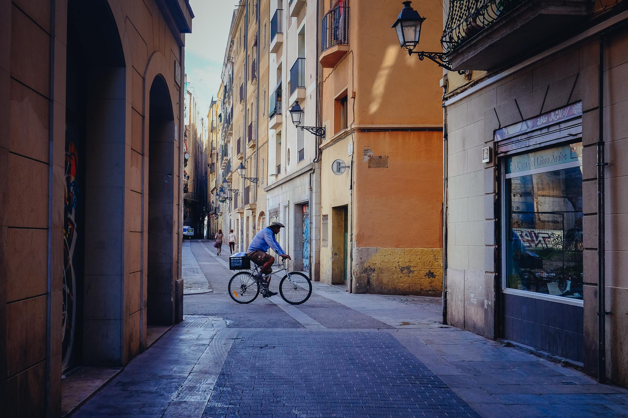 Barcelona bicyclist