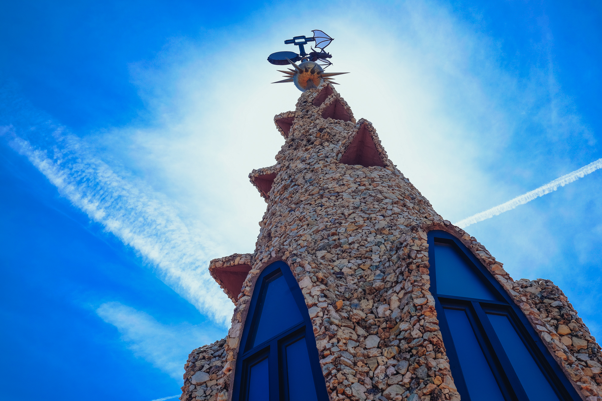 Palau Guell roof main tower
