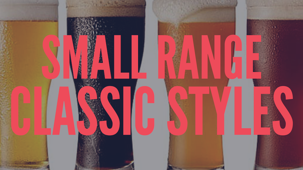 Small range of classic styles